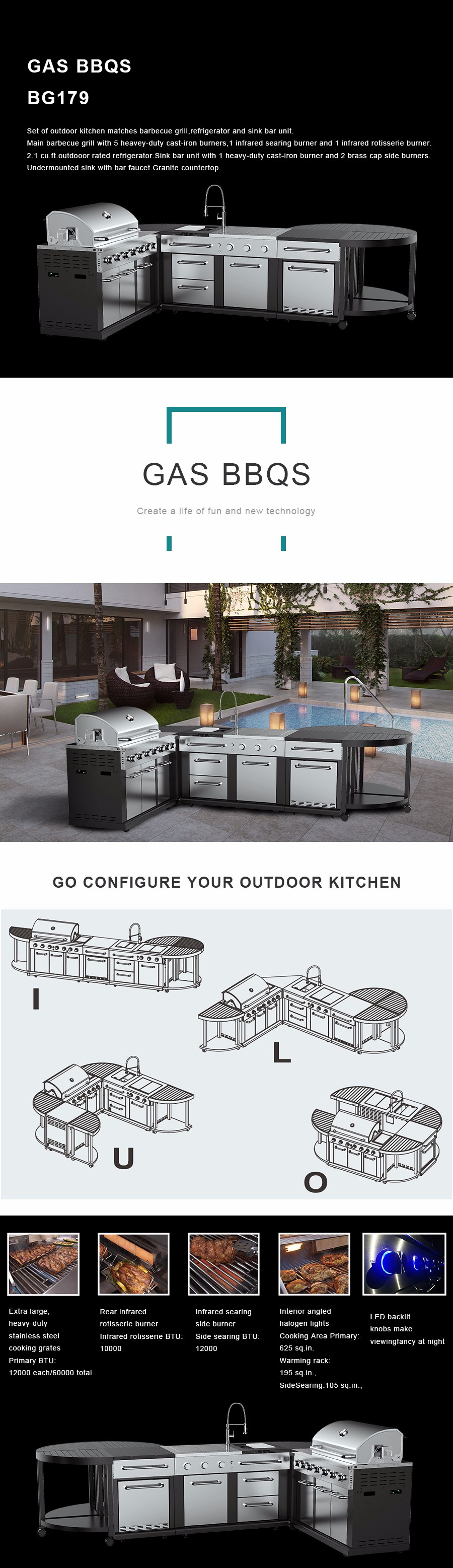 BBQ grills|Heating & Cooling|Valve & accessories|Kitchens & appliances